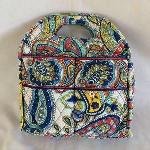 Vera Bradley cloth lunch bag zipper lined